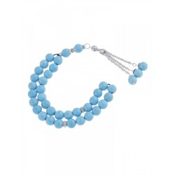 Masbaha Unisex Chalk Turquoise Prayer Beads ANM-08