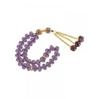 Masbaha Unisex Translucent Faceted Crystal Prayer Beads ANM-10