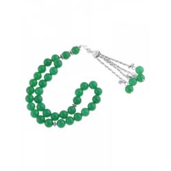 Masbaha Unisex Jade Gemstone Prayer Beads ANM-11
