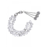 Masbaha Unisex Translucent Faceted Crystal Prayer Beads ANM-16