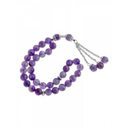 Masbaha Unisex Natural Amethyst Gemstone Prayer Beads ANM-18