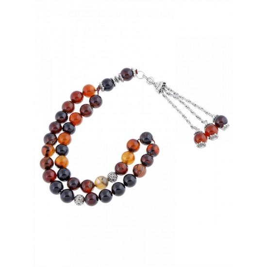 Masbaha Unisex Genuine Agate Prayer Beads ANM-19 image