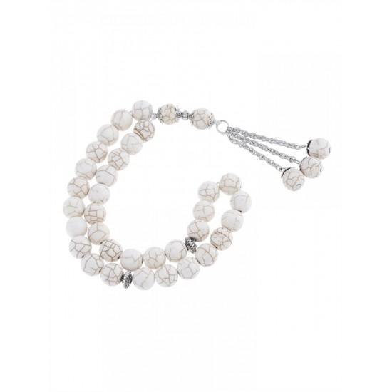 Masbaha Unisex Genuine Magnesite Stone Prayer Beads ANM-20 image