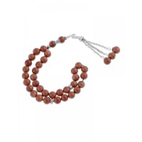 Masbaha Unisex Genuine Golden Sandstone Prayer Beads ANM-21