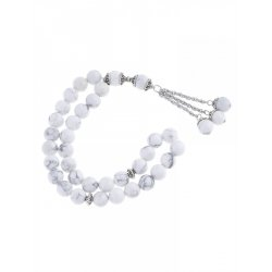 Masbaha Unisex White Chalk Magnesite Prayer Beads  ANM-22