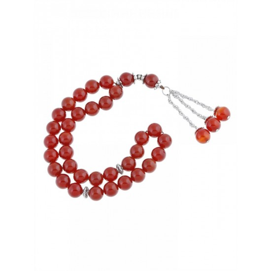 Masbaha Unisex Genuine Agate Gemstone Prayer Beads ANM-05 image