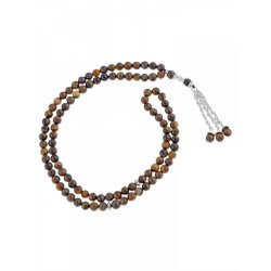 Masbaha Unisex Tiger Eye Gemstone Prayer Beads  ANM-26