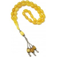 Amber Oval Cut Rosary Yellow  ANM-30
