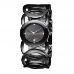 Ladies Black With Black Dial Hollow Bracelet Watch CHD-62B image