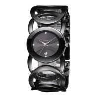 Ladies Black With Black Dial Hollow Bracelet Watch CHD-62B