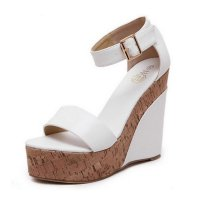 Women Fashion White Color Wedge Sandals CSW-31W