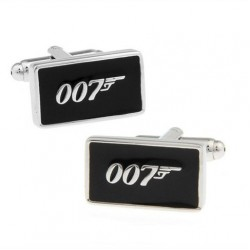 Look Stylish Silver Tone 007 Design Cufflinks CFL-01