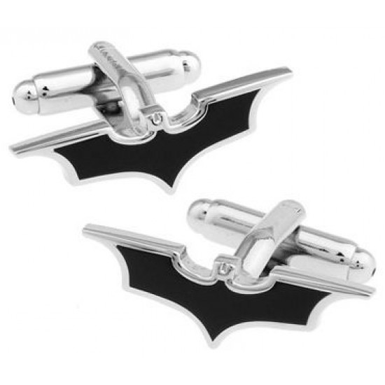 Look Stylish Tip Black Batman Cufflinks Mens Shirt Cufflinks  CFL-02