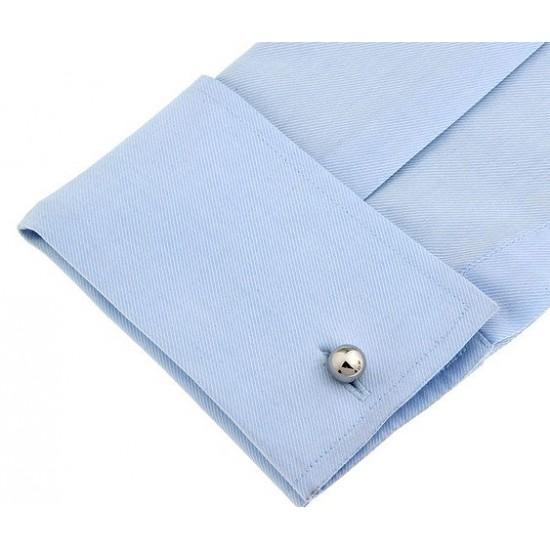 Look Stylish Silver Ball Shape Personalized Fashion Mens French Shirt  Silver  Cufflinks CFL-04