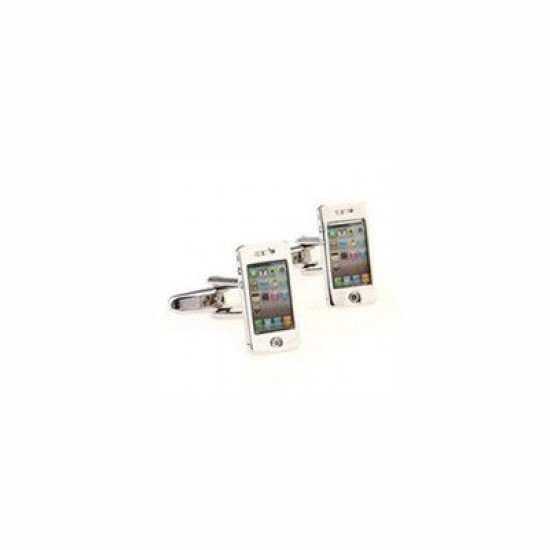 Look Stylish Silver Tone Iphone Cufflinks CFL-09