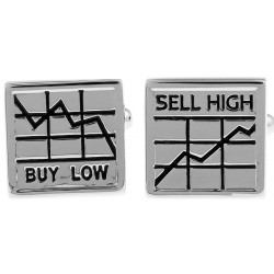Look Stylish Low Prices Stock Market Pattern French Shirt Fashion Personality Mens Cufflinks CFL-10