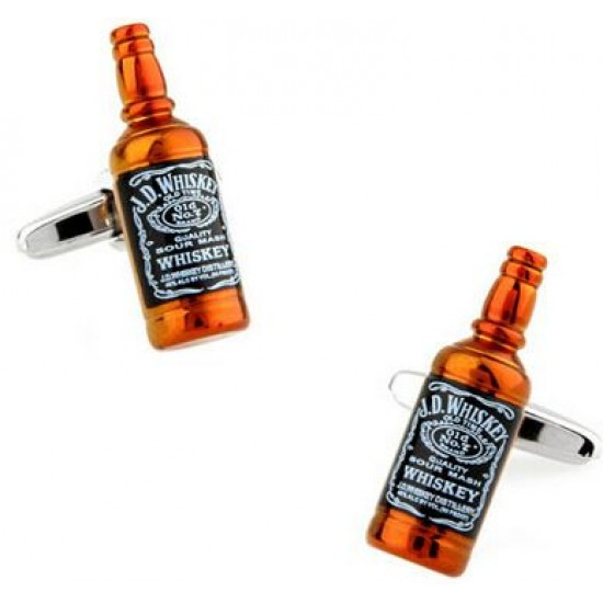 Look Stylish Whiskey Bottle Personalized Fashion Mens Shirt Cufflinks CFL-17