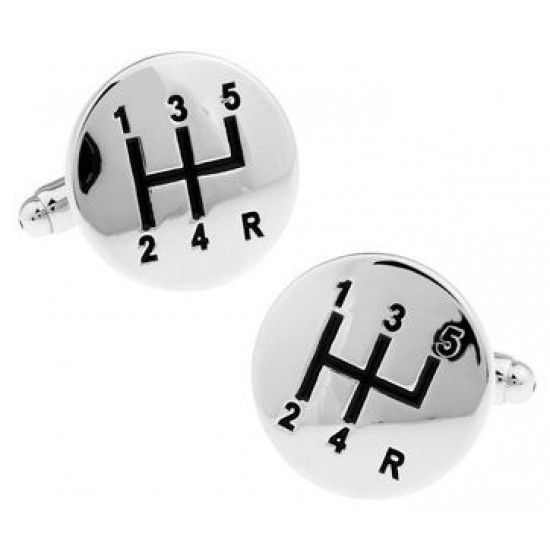 Look Stylish French Shirt Automotive Transmission Gear Shape Cufflinks For Men CFL-23 image