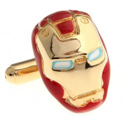 Look Stylish 24K Gold Plated Exqusite Iron Man Shirt Fashion Cufflinks For Men CFL-24
