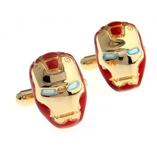 Look Stylish 24K Gold Plated Exqusite Iron Man Shirt Fashion Cufflinks For Men CFL-24 image