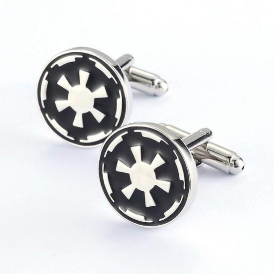 Look Stylish Star Wars Enamel Personalized Fashion Mens Shirt Cufflinks CFL-43 image