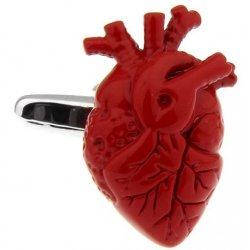 Look Stylish Real Heart Shape Red Cufflinks For Lovers CFL-33