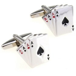 Look Stylish Fashion Playing Cards Shape Cufflinks For Men CFL-39