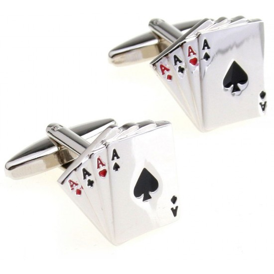 Look Stylish Fashion Playing Cards Shape Cufflinks For Men CFL-39 image