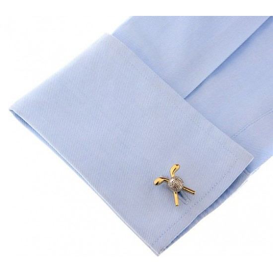 Look Stylish Gold Plated Sports Golf Cufflinks For Mens CFL-40 image