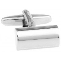 Look Stylish Silver Cylindrical Cufflinks For Mens CFL-41
