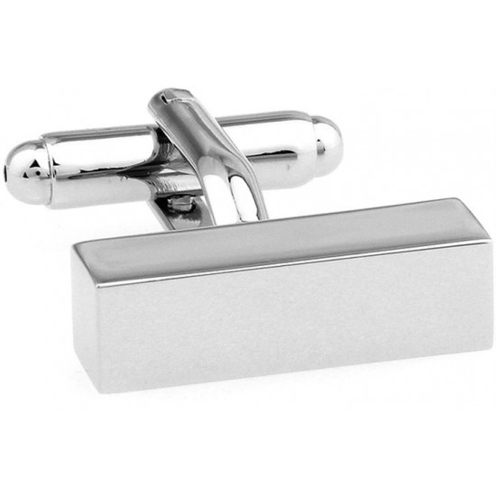 Look Stylish Plain Metal Rectangle Square Cufflinks For Mens CFL-55 image
