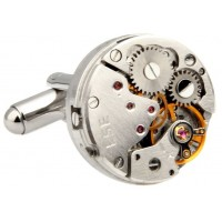 Look Stylish Retro Mechanical Watch Movements Shape Cufflinks For Mens CFL-56