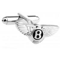Look Stylish Bently logo Silver Cufflinks for Men CFL-63
