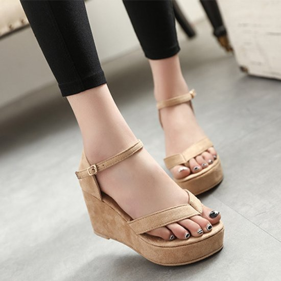 Women Fashion Brown Color Wedge Sandal  CSW-101BR
