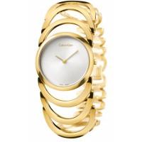 CK Style  Ladies Gold Hollow Bracelet Watch W101G