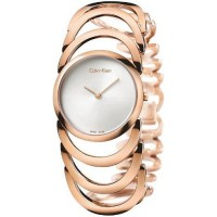 CK Style  Ladies Rose Gold Hollow Bracelet Watch W101R