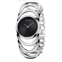CK Style Ladies Silver Hollow Bracelet Watch W101S