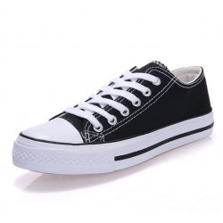 Women Black Color Comfty Canvas Shoes For Women WS-03BK