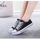 Women Black Color Comfty Canvas Shoes For Women WS-03BK