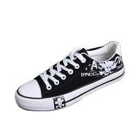 Men Amazing Design Black Canvas Sneaker Shoes MS-01BK