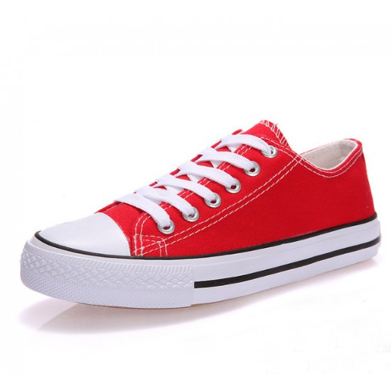 Women Red Color Comfty Canvas Shoes For Women WS-03RD