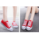 Women Red Color Comfty Canvas Shoes For Women WS-03RD image