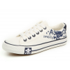 Men Amazing Design White Canvas Sneaker Shoes MS-01W