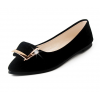 Women Black Pointed Flat Shoes WS-11BK