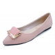 Women Pink Pointed Flat Shoes WS-11PK