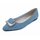 Women Light Blue Pointed Flat Shoes WS-11BL