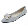 Women Grey Pointed Flat Shoes WS-11GR