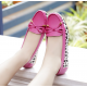 Women Fashion Pink Leopard Pattern Flat Loafer Shoes WF-03PK image