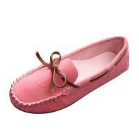 Women Fashion Pink Suede Matte Comfortable Loafer Flats WF-05PK