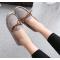 Women Fashion Grey Suede Matte Comfortable Loafer Flats WF-05GR